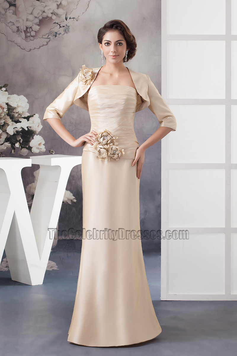 Champagne colored dresses long