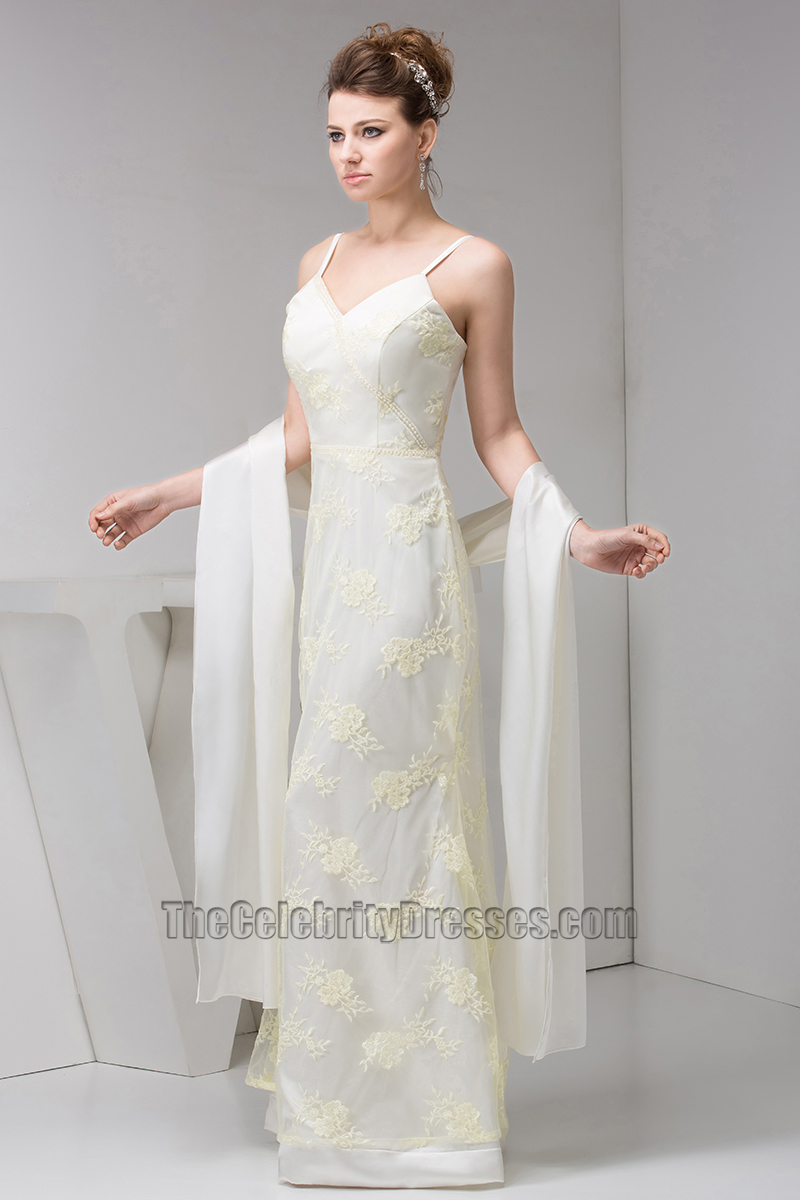 Elegant Lace Spaghetti Straps Formal Dress Evening Gown With A Wrap ...