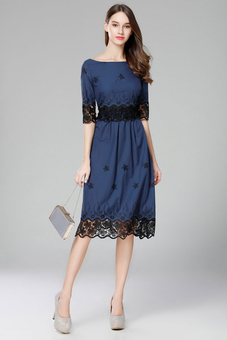Navy Blue Dresses for Wedding Guest
