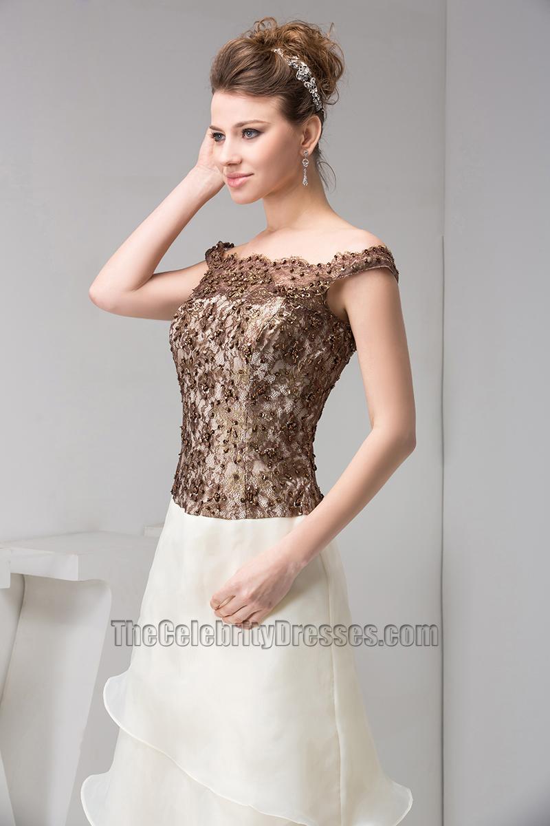 Elegant Off-the-Shoulder Formal Gown Evening Prom Dresses ...