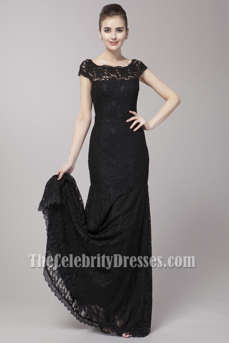 Elegant Off-the-Shoulder Black Formal Dress Evening Gown ...
