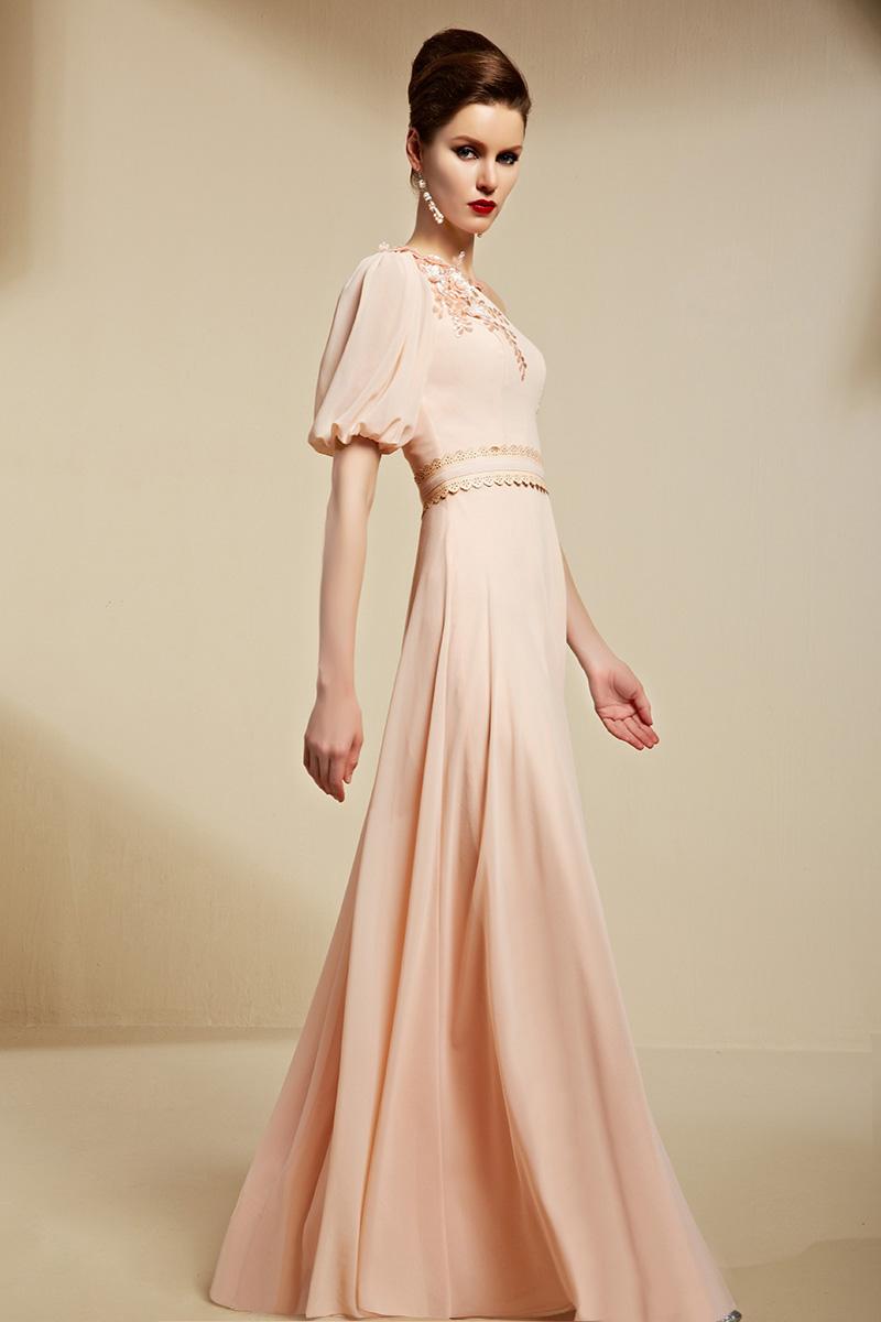 Elegant One Sleeve Floor Length Formal Dress Evening Gowns - TheCelebrityDresses