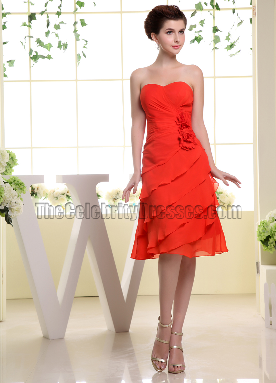 Red sweetheart chiffon cocktail dress bridesmaid dresses red sweetheart chiffon cocktail dress bridesmaid dresses thecelebritydresses ombrellifo Image collections