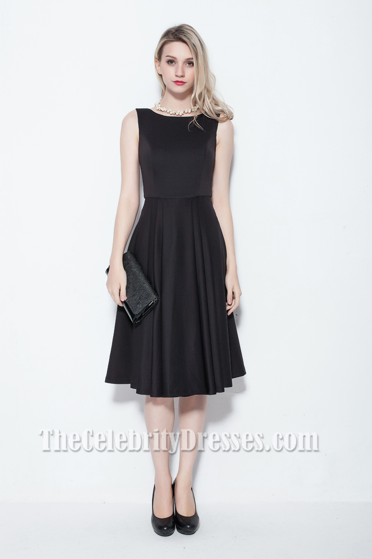 Elegant Sleeveless Knee Length Cocktail Party Dress - TheCelebrityDresses