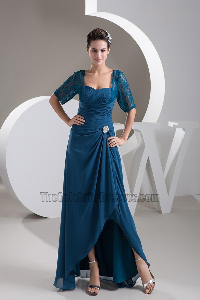 Elegant Square Neckline Formal Dress Evening Gown - TheCelebrityDresses