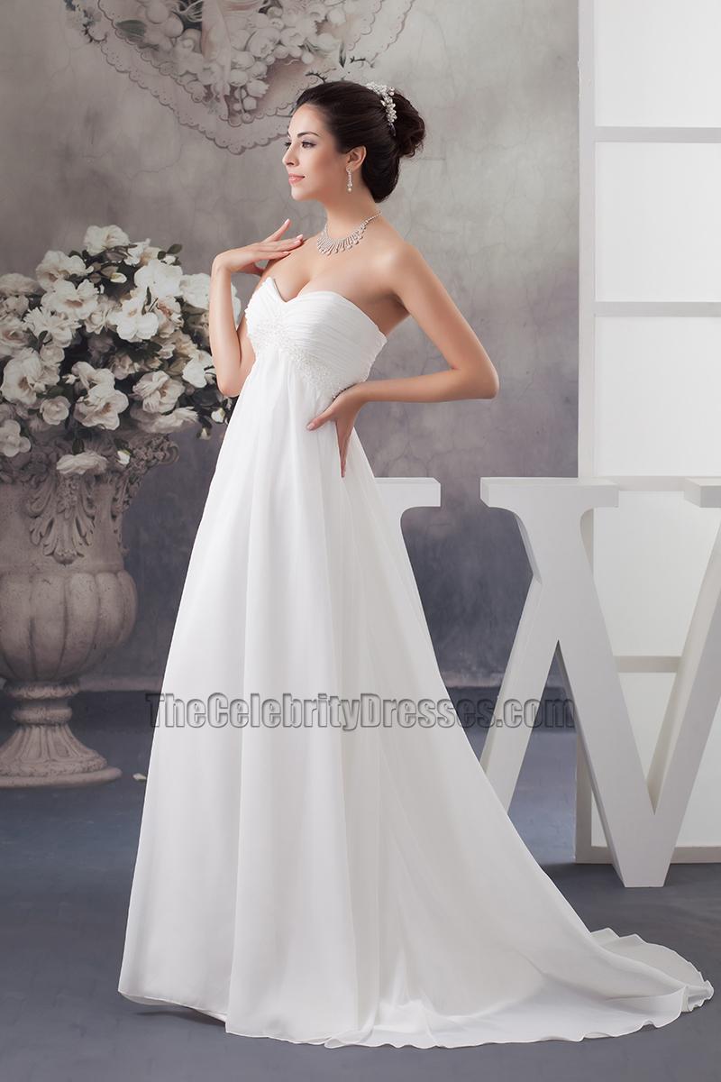 A-Line Chiffon Wedding Dress