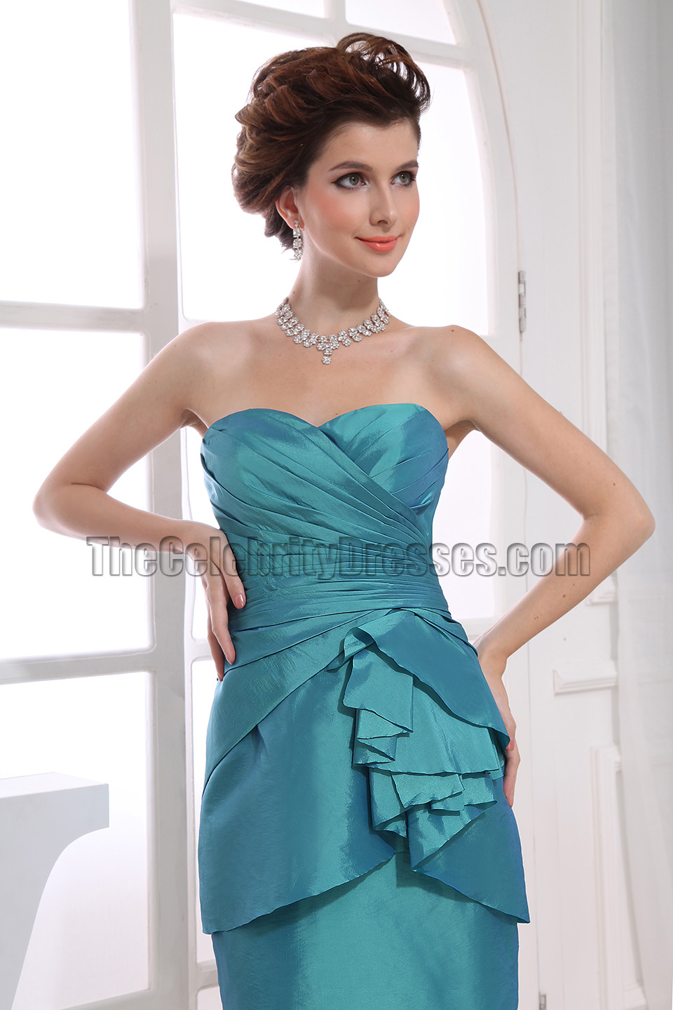 Elegant Strapless Short Party Dress Homecoming Bridesmaid Dresses ...