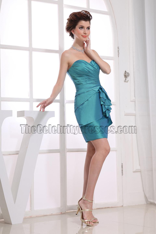 Elegant Strapless Short Party Dress Homecoming Bridesmaid Dresses ...