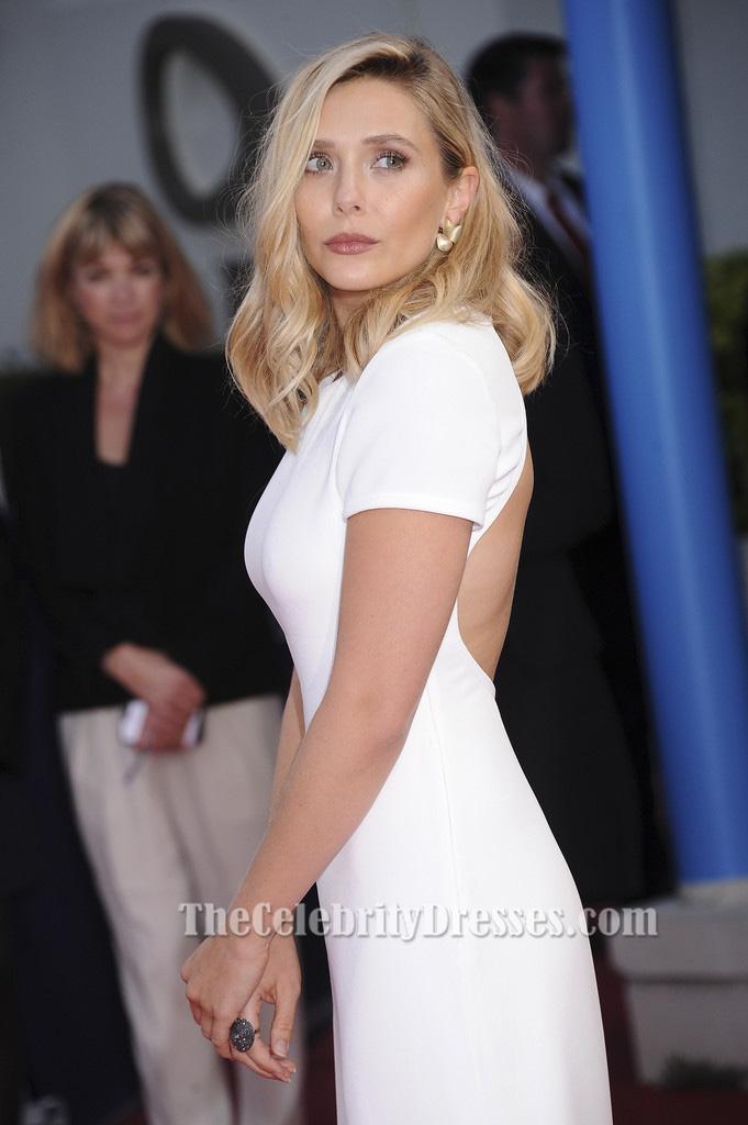 Elizabeth Olsen White Evening Dress Ruth And Alex