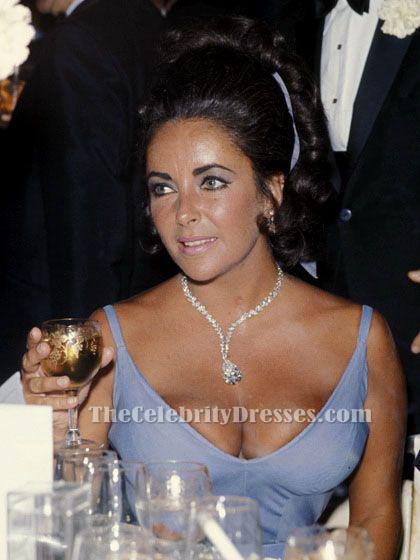 elizabeth taylor 1970 oscar classic blue aline full