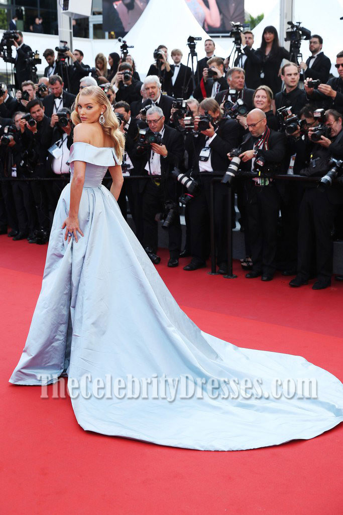 4fc4e32d3d7f Elsa Hosk Light Sky Blue Off-the-shoulder Ball Gown 2017 Cannes Film  Festival For Sale - TheCelebrityDresses