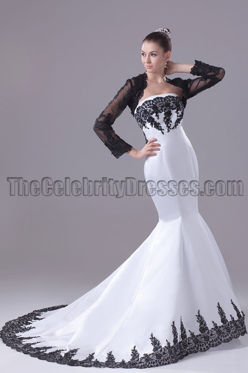Embroidery Strapless Mermaid Formal Gown Pageant Dresses ...