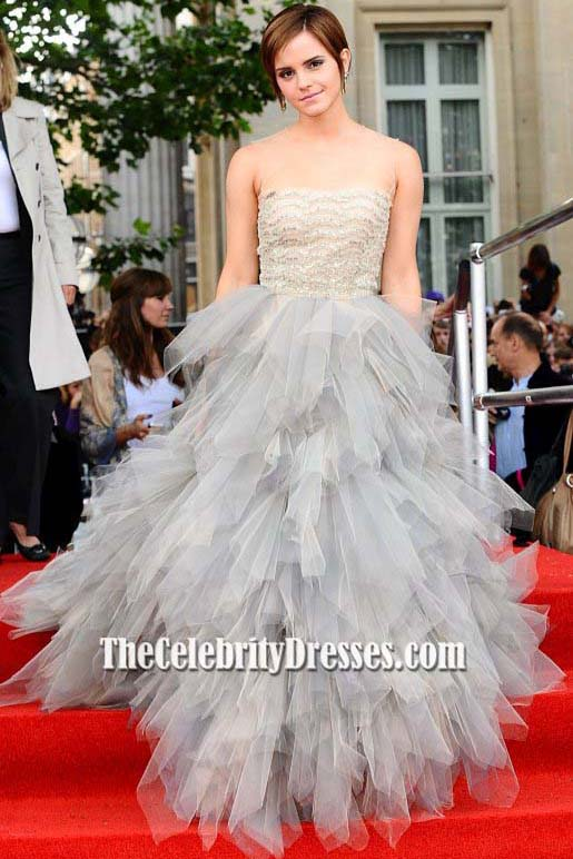 Emma Watson Tulle Formal Dress Harry Potter And The Deathly Hallows ...