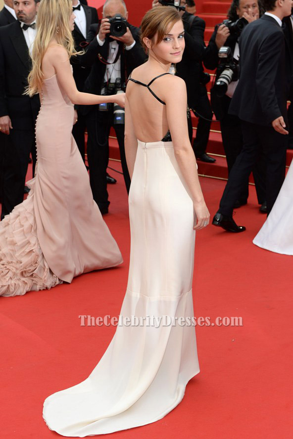 Emma Watson Backless Formal Dress Cannes festival 2013 Red Carpet ...