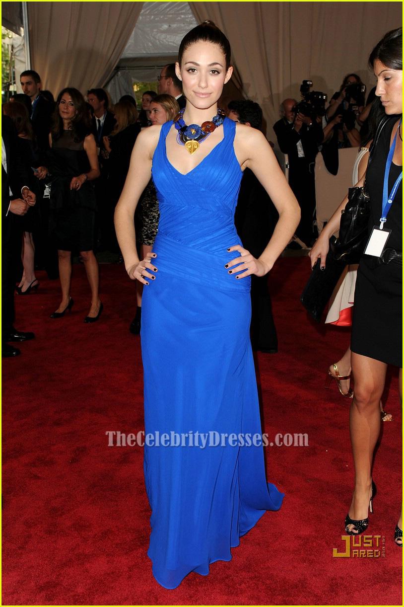 Emmy Rossum Royal Blue Evening Dress 2010 MET Ball Red Carpet ...