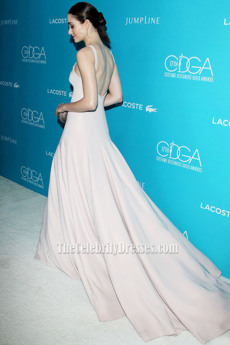 Emmy Rossum Sexy Long Backless Evening Prom Dress 17th Costume ...