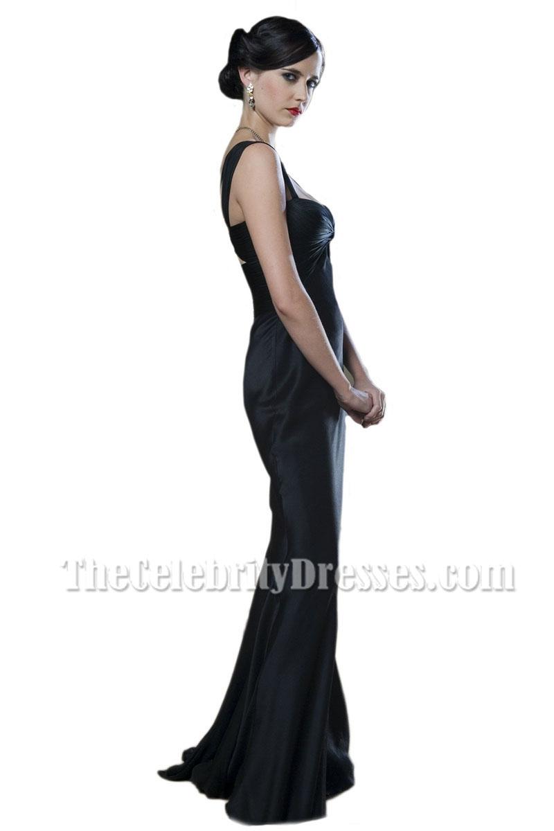 Eva Green Black Ruffle Formal Evening Dress Casino Royale