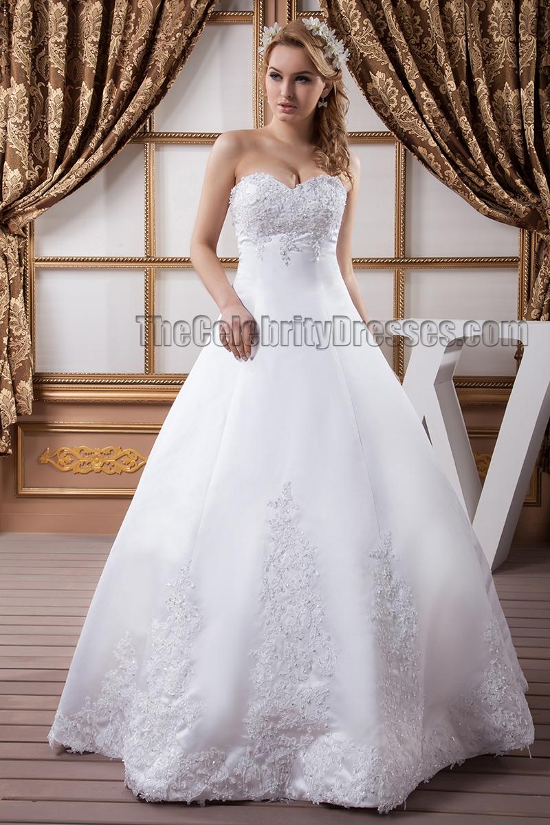 floor length a line strapless sweetheart beaded wedding
