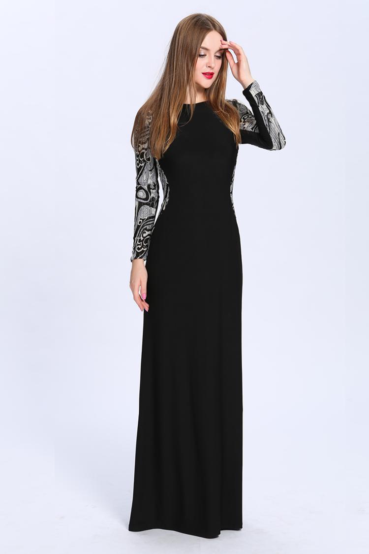 Floor length formal black dresses