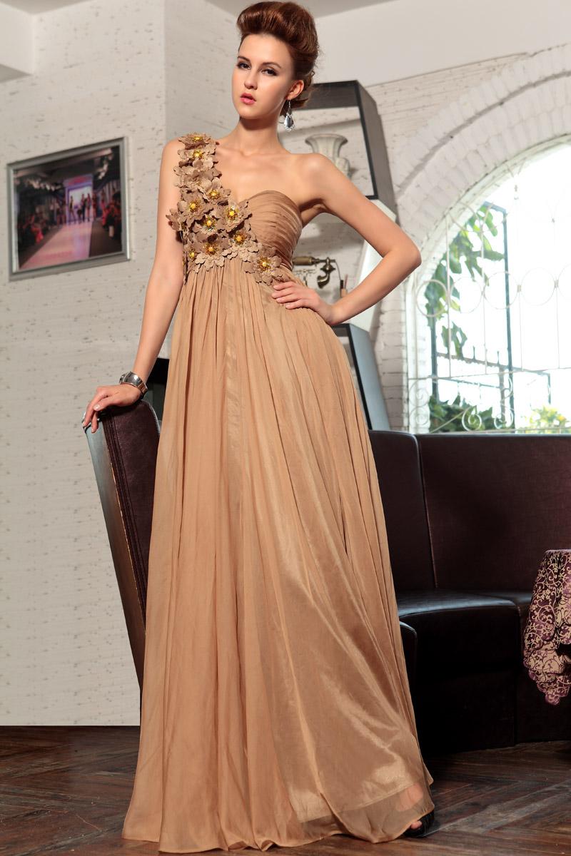 Floor Length Sweetheart One Shoulder Formal Gown Evening Dress ...