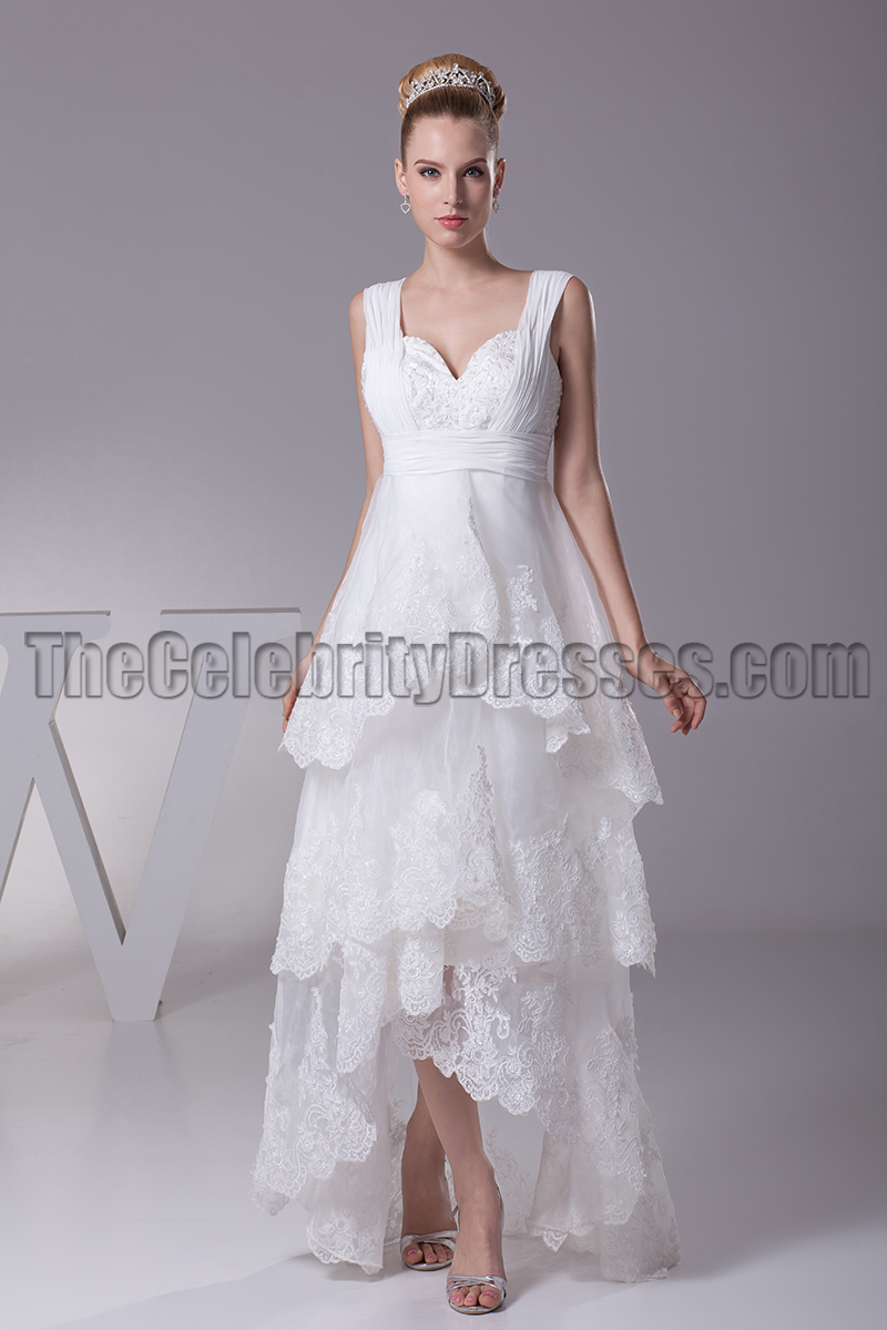 wedding dresses high low floor length v neck a line hi low wedding dresses 9353