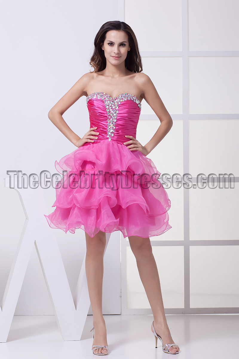 Fuchsia Strapless Mini Party Homecoming Sweet 16 Dresses ...