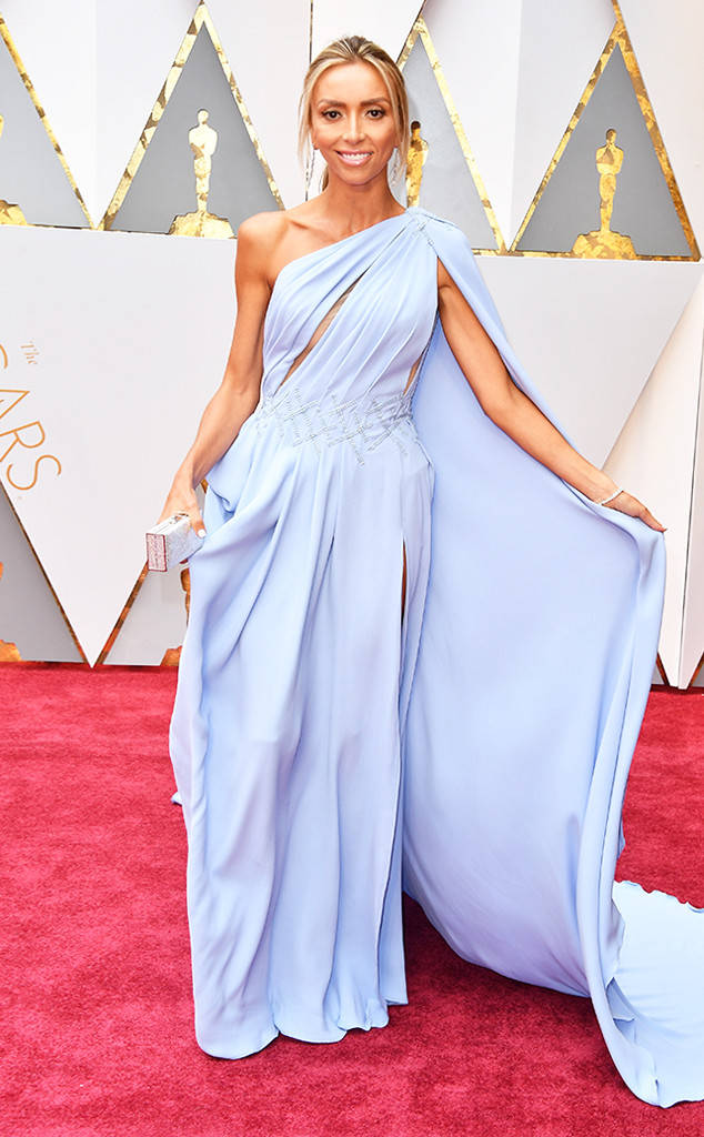 Giuliana Rancic 2017 Oscar Red Carpet Sky Blue Formal Evening Dress Thecelebritydresses