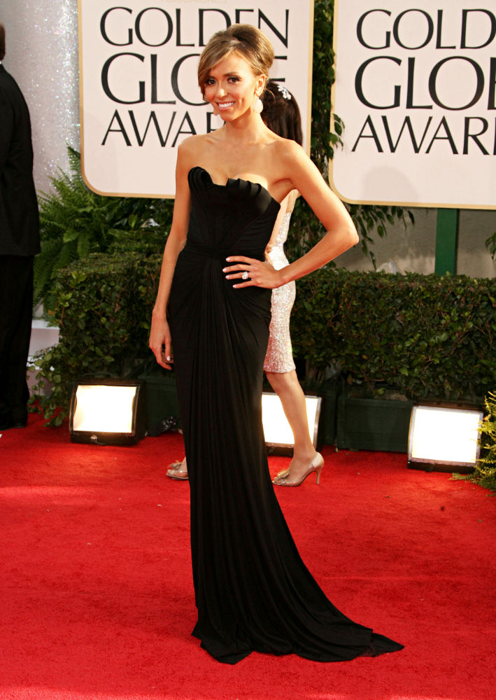 Giuliana Rancic Black Evening Dress 2017 Golden Globe Awards Thecelebritydresses