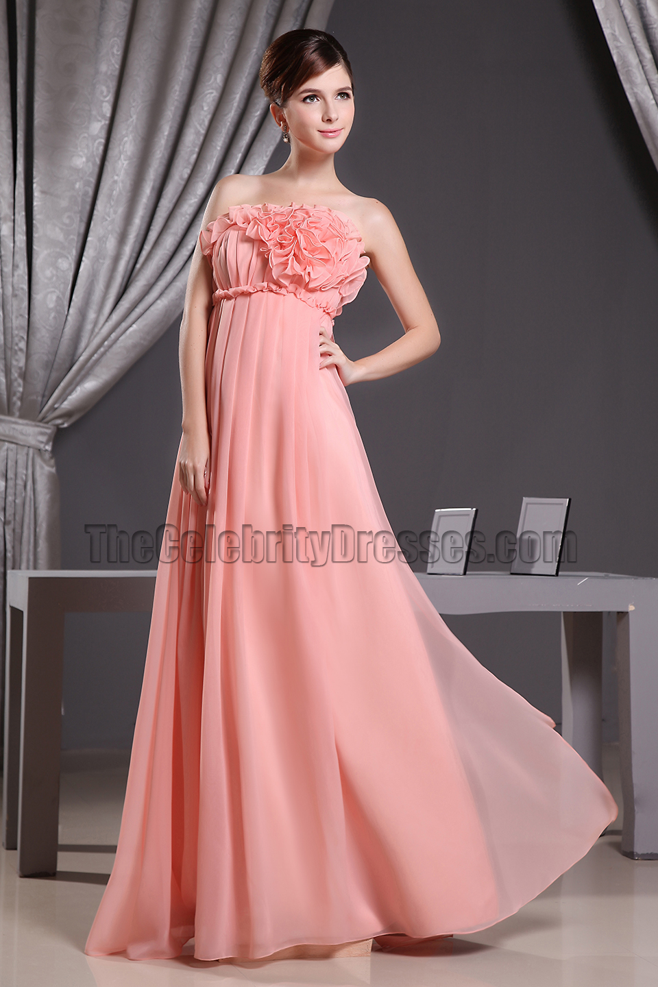 Coral strapless a line prom dress formal bridesmaid dresses coral strapless a line prom dress formal bridesmaid dresses thecelebritydresses ombrellifo Choice Image