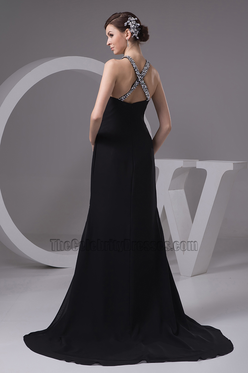 Sexy Black Sliver Sequined Evening Dress Prom Gown ...