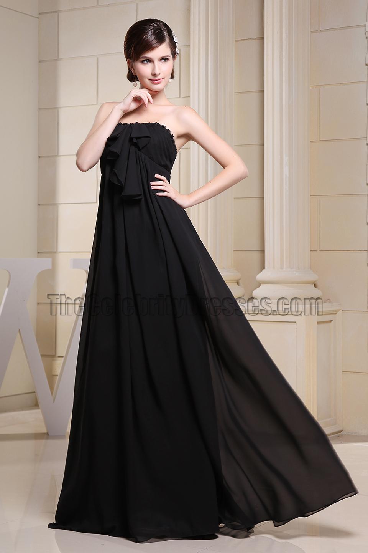 Strapless Chiffon Prom Dress