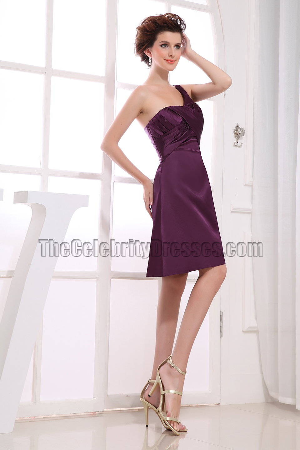 Gorgeous grape one shoulder cocktail dress bridesmaid dresses gorgeous grape one shoulder cocktail dress bridesmaid dresses thecelebritydresses ombrellifo Image collections