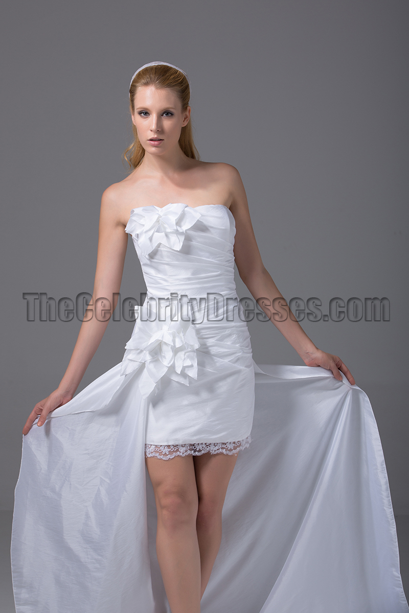 wedding dresses high low gorgeous strapless hi low taffeta wedding dresses 9353