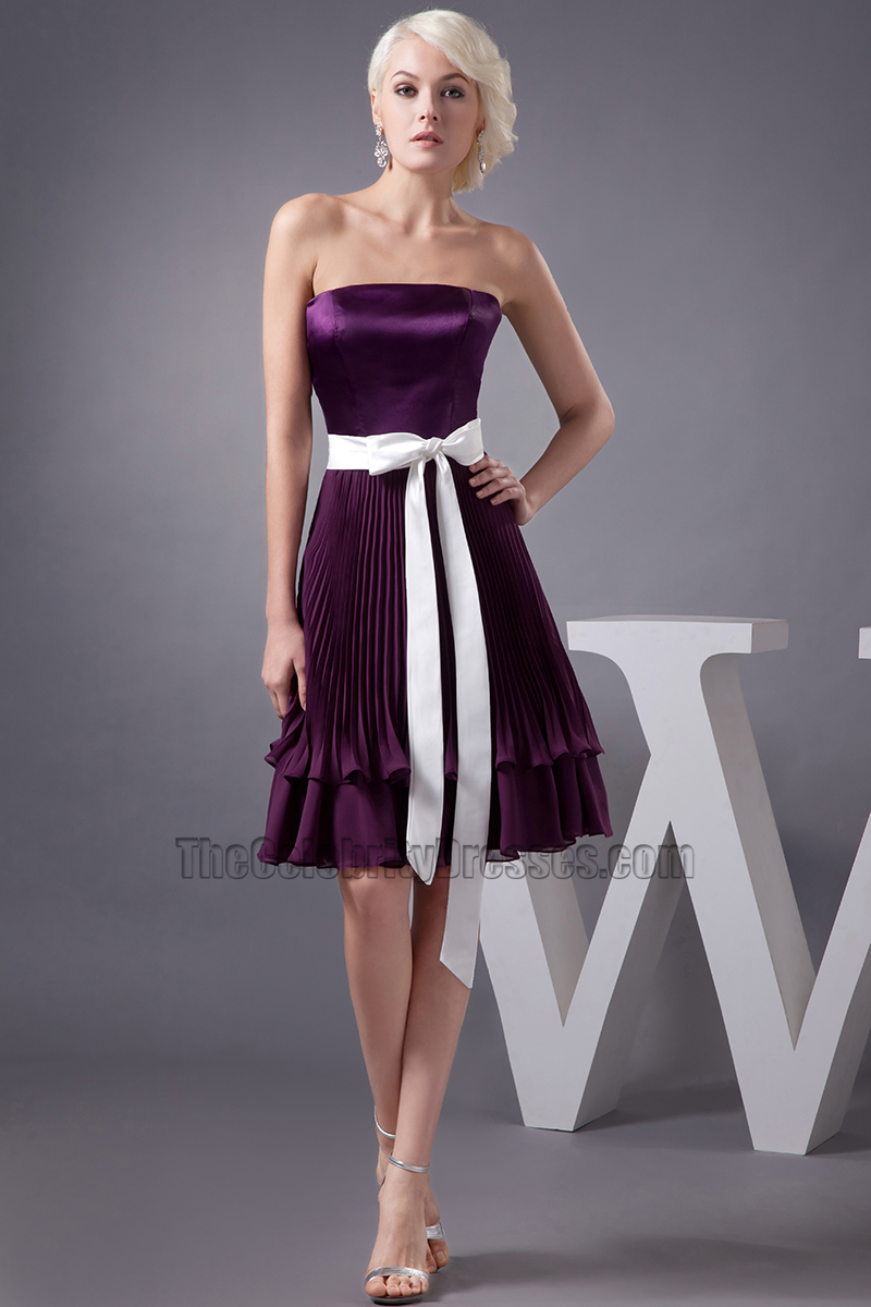 Grape strapless a line short bridesmaid cocktail dresses grape strapless a line short bridesmaid cocktail dresses thecelebritydresses ombrellifo Image collections