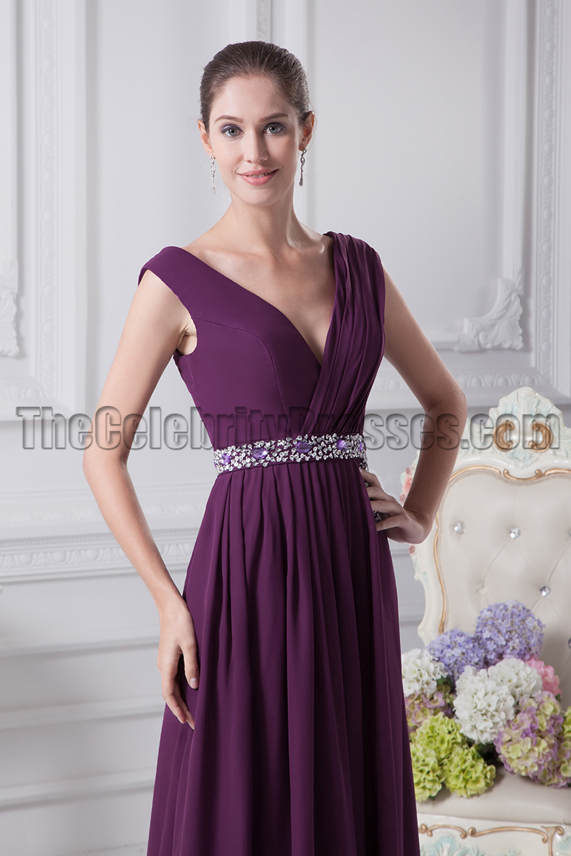 Grape v neck prom gown evening bridesmaid dresses grape v neck prom gown evening bridesmaid dresses thecelebritydresses ombrellifo Image collections