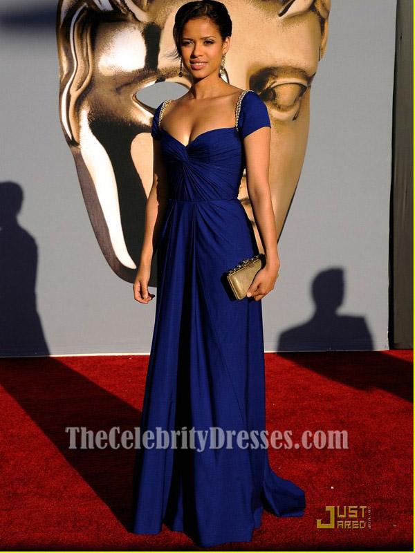 Gugu Mbatha-Raw Royal Blue Prom Dress BAFTA Awards 2011 Red Carpet ...