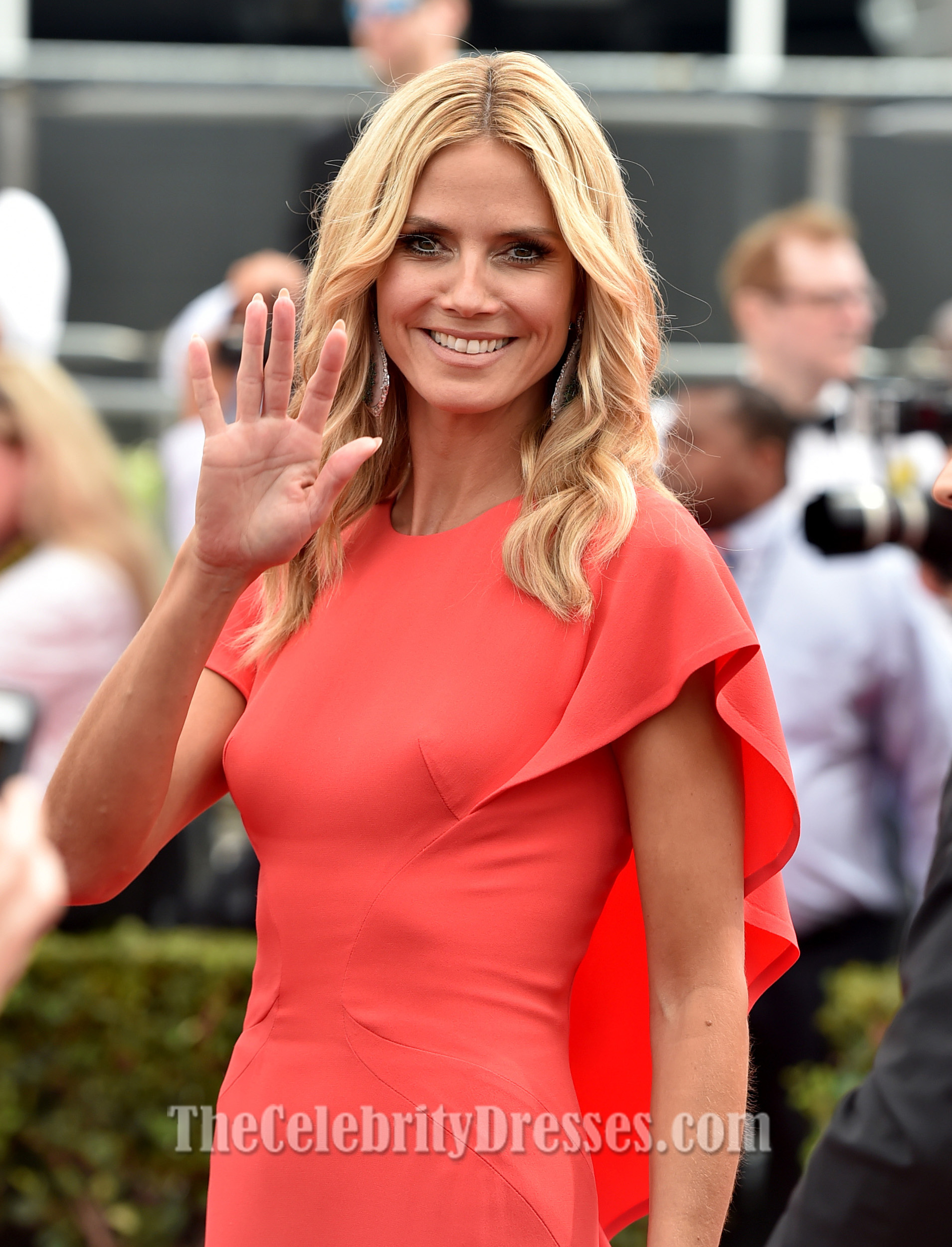 Heidi Klum Watermelon Formal Dresses 2014 Emmy Awards Red ...