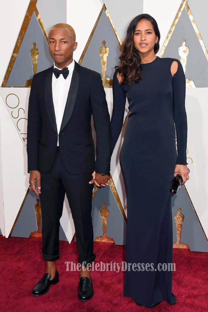 Helen Lasichanh 2016 Oscars Black Long Sleeves Formal