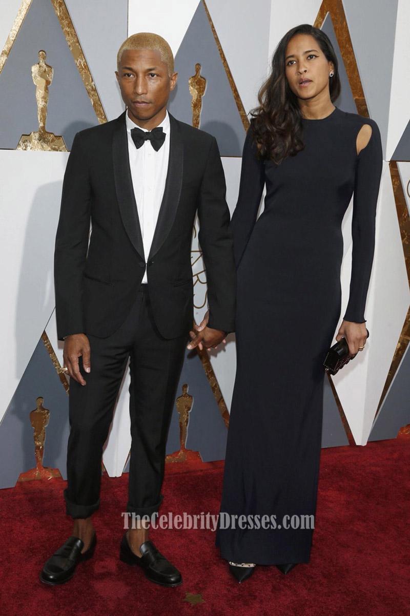 Helen Lasichanh 2016 Oscars Black Long Sleeves Formal Dress Red ...