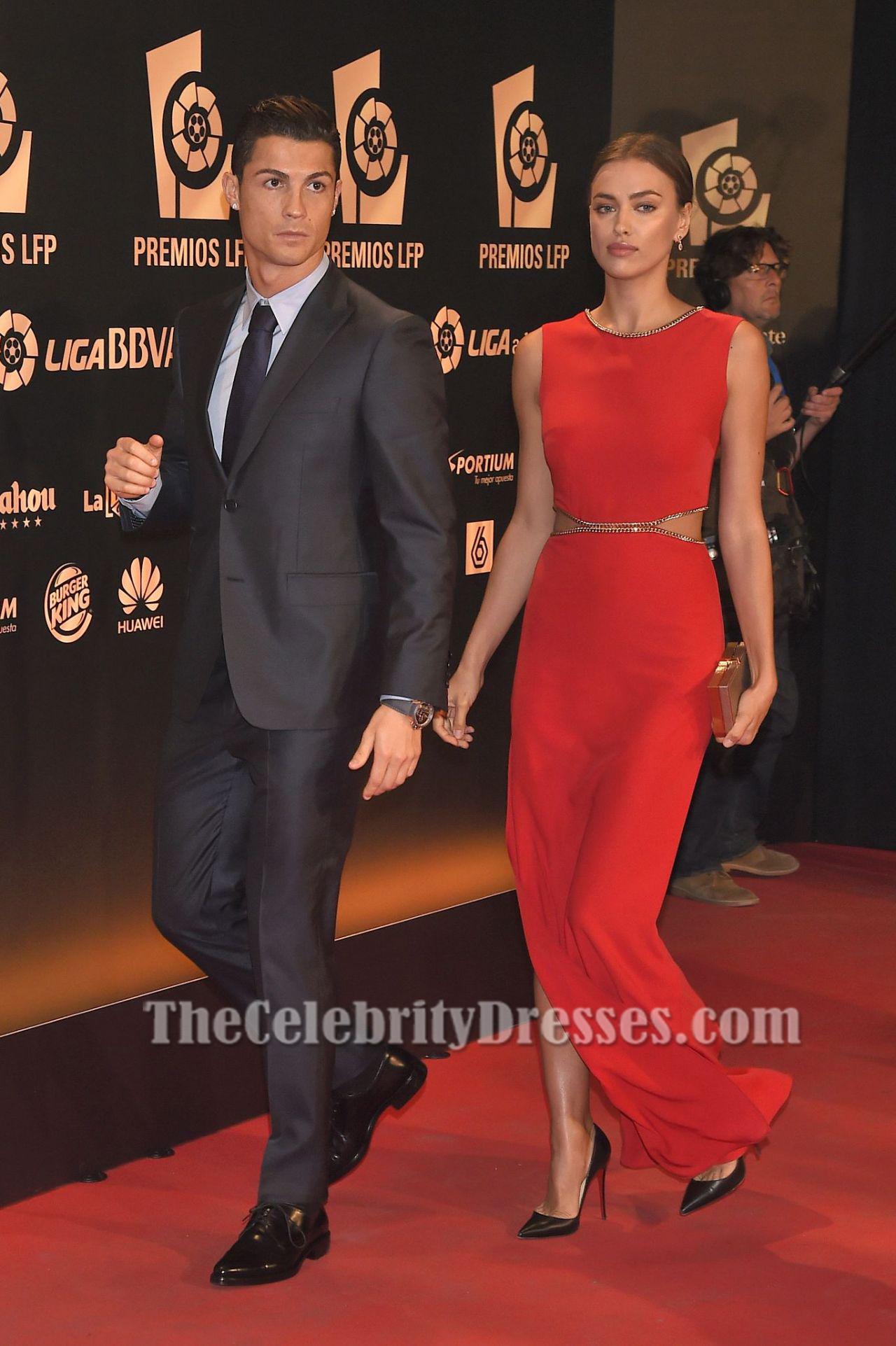 Irina Shayk Red Evening Dress 2014 Liga de Futbol Profesional Awards ...