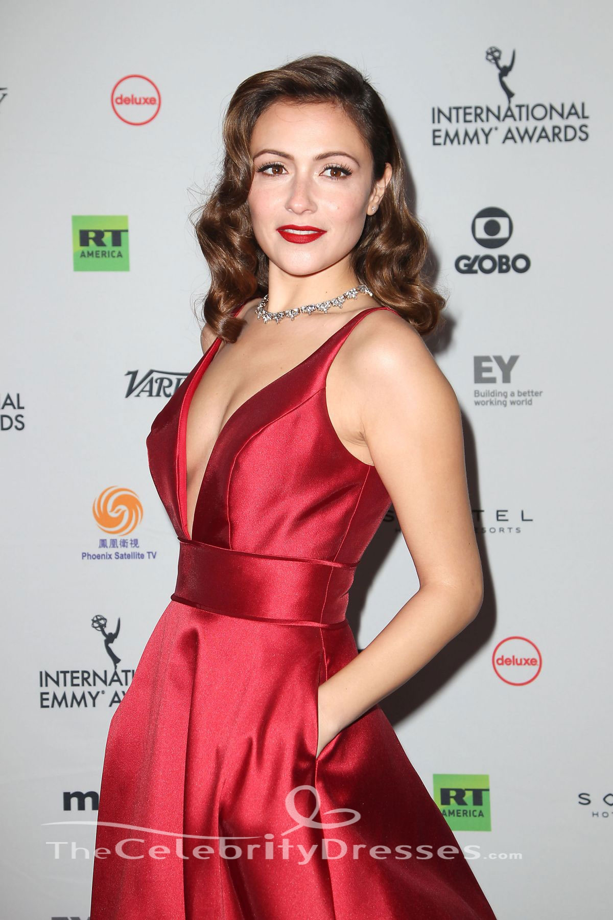 Italia Ricci Red Evening Dress 45th International Emmy ...