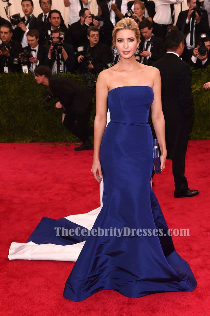 Ivanka Trump Royal Blue Formal Dress MET Gala 2015 Red Carpet ...