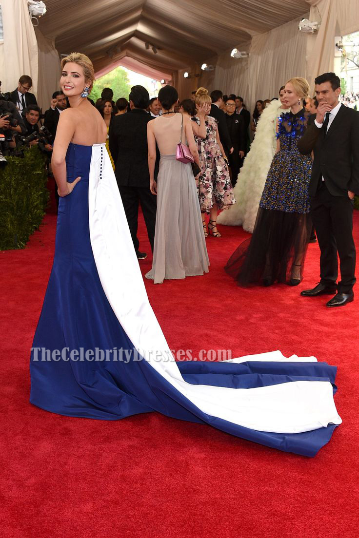 Ivanka Trump Royal Blue Formal Dress MET Gala 2015 Red Carpet -  TheCelebrityDresses