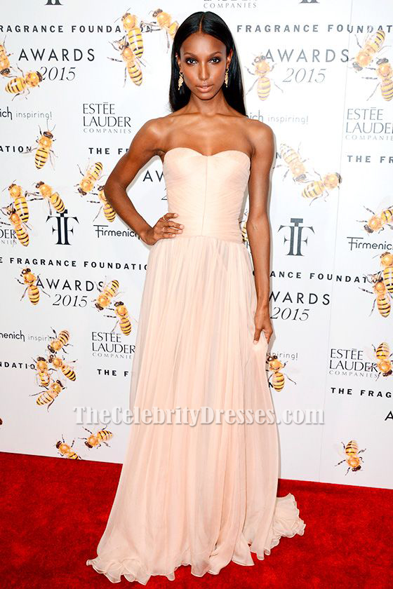Jasmine Tookes Strapless Prom Dress 2015 Fragrance Foundation Awards ...