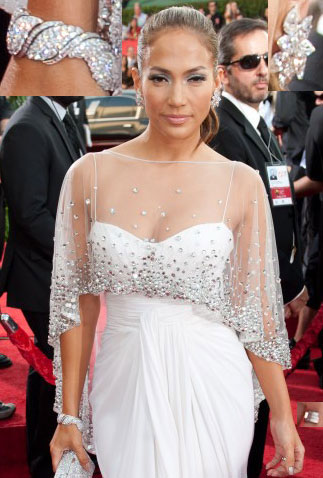 455235b3fe87 Jennifer Lopez 2011 Golden Globe Awards White Formal Dress -  TheCelebrityDresses