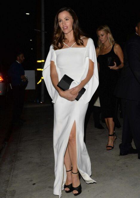 Jennifer Garner White Evening Dress 2017 Baby2Baby Gala Gown - TheCelebrityDresses