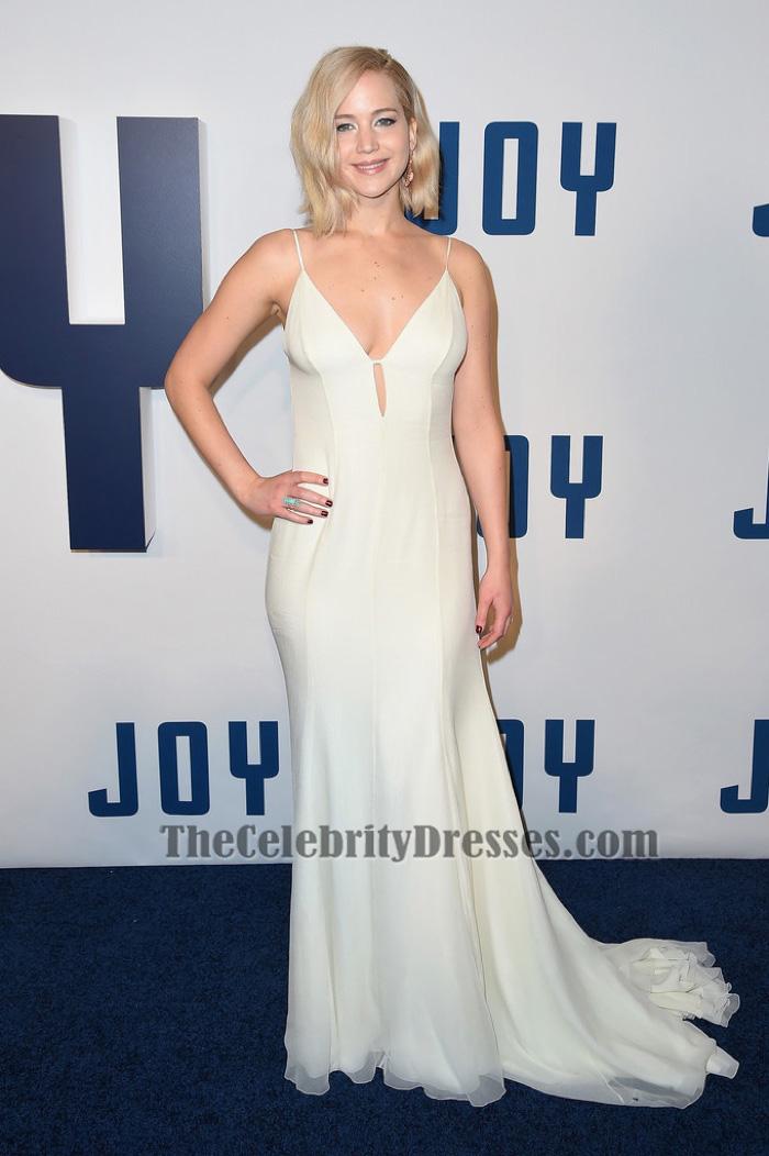 Jennifer Lawrence sexy rückenfreies Abendkleid \'Joy\' New York ...