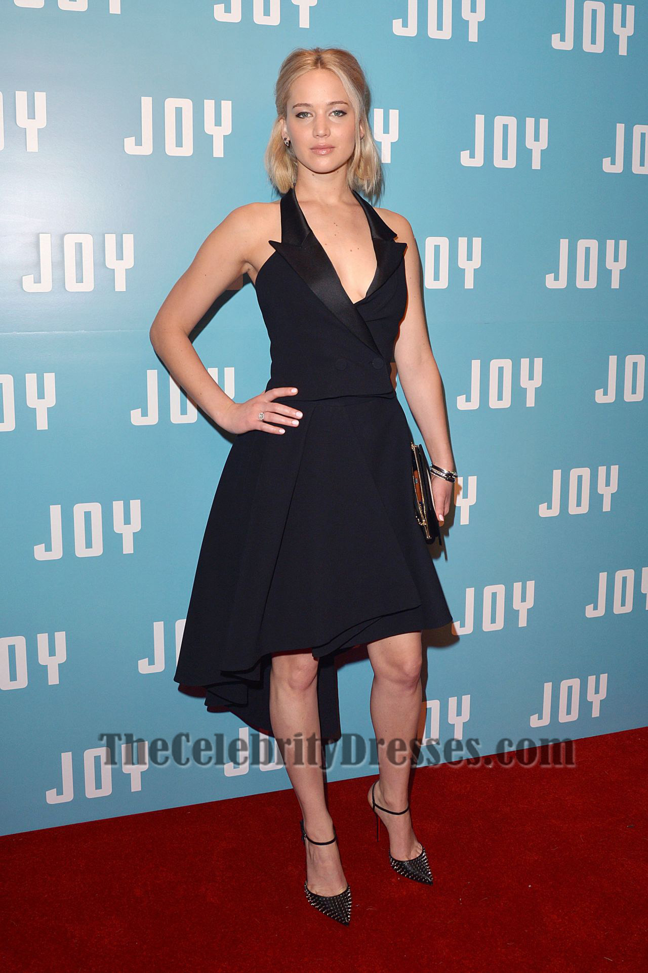 Jennifer Lawrence Short Black Party Dress \'Joy\' London Screening ...