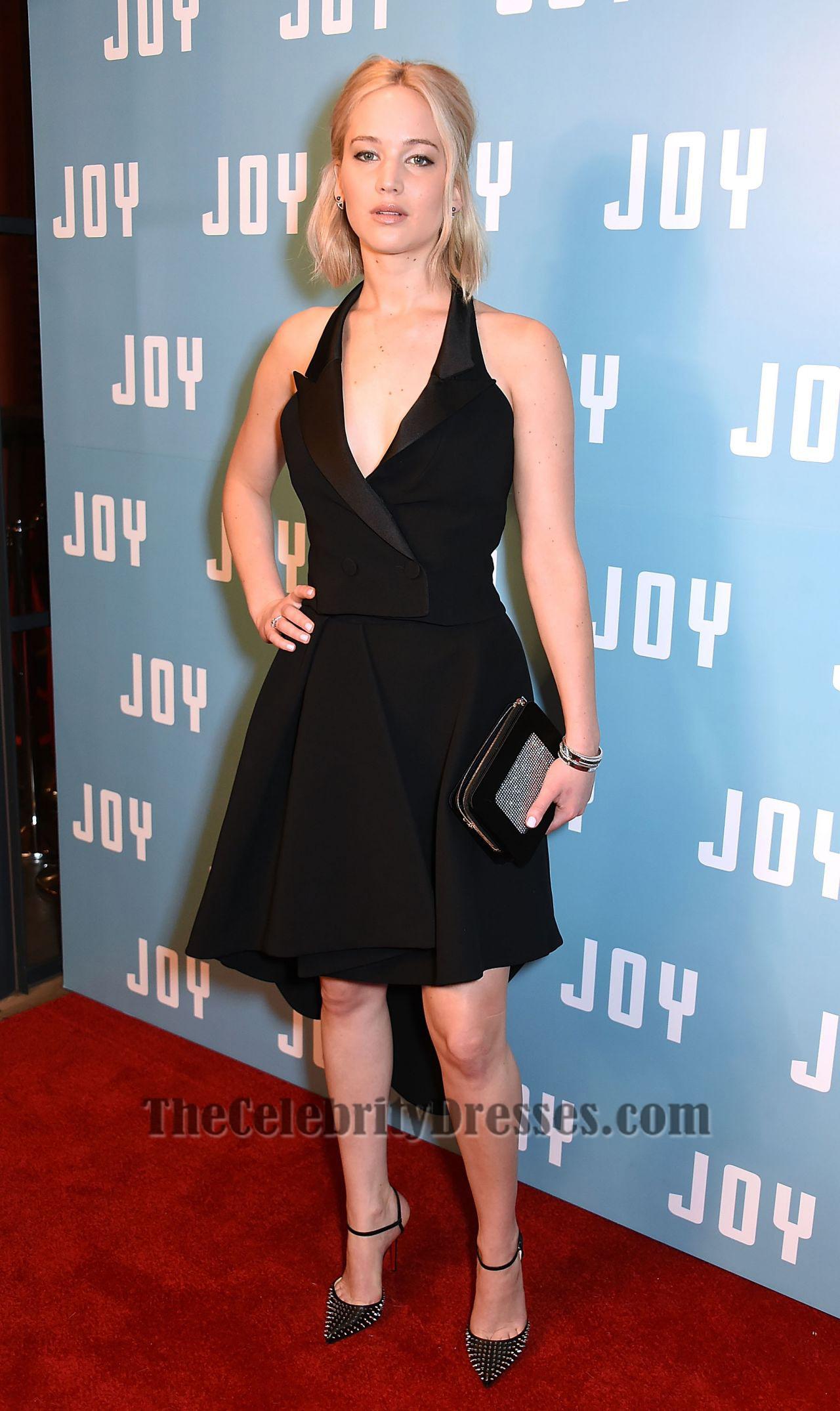 Jennifer Lawrence Short Black Party Dress 'Joy' London Screening ...