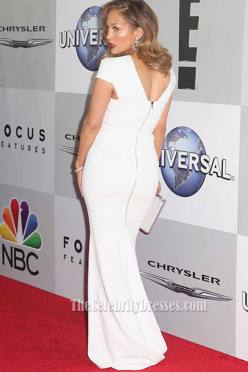 Jennifer Lopez 2016 Golden Globes Awards After Party White Evening ...